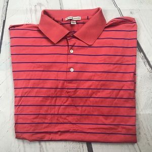 Peter Millar Mens striped polo Sz XL